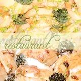 Реклама ресторана Стоковые Изображения RF
