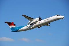 реклама самолета принимает Стоковая Фотография RF