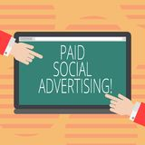 Реклама сочинительства слова оплаченная текстом социальная Концепция дела для внешних организаций маркетинга включает оплаченный  иллюстрация вектора