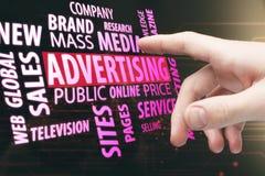 Реклама, средства массовой информации и концепция сети стоковые фотографии rf
