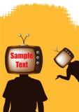 рекламировать вектор telehead eps Стоковая Фотография