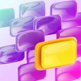 рекламировать желтый цвет ярких плакатов пурпуровый Стоковое Изображение