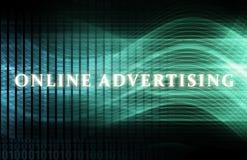 рекламировать он-лайн Стоковая Фотография RF