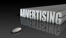 рекламировать он-лайн иллюстрация штока