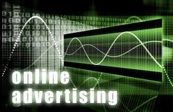 рекламировать он-лайн бесплатная иллюстрация