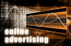 рекламировать он-лайн Стоковые Изображения