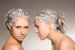 рекламировать салон волос Стоковые Фотографии RF