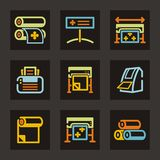 рекламировать серию иконы Стоковое Изображение