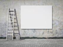 рекламировать стену афиши пустую Стоковое фото RF
