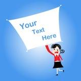 рекламировать девушку шаржа доски Стоковые Фото