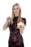 рекламирует женщину имущества дела реальную стоковое изображение rf