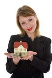 рекламирует женщину имущества дела реальную стоковая фотография