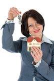 рекламирует женщину имущества дела реальную стоковая фотография rf