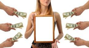 рекламирующ принципиальную схему успешную Стоковые Фотографии RF