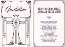 Рекламы, рогулька, приглашения или поздравительные открытки Стоковое Изображение RF