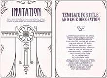 Рекламы, рогулька, приглашения или поздравительные открытки Стоковые Изображения