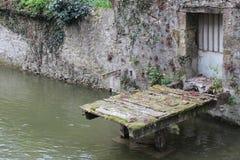 рекой Loir - VendÃ'me - Францией Стоковая Фотография RF