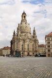 13 14 1945 2005 реконструкций Германии frauenkirche dresden февраля церков воздушной бомбардировки завершенных городом разрушенны Стоковые Фото