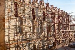 Реконструкция замка стоковая фотография