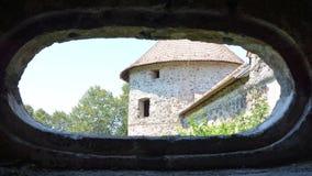 Реконструкция фантазии средневекового дворца в деревне Racos, Трансильвании Стоковые Изображения RF