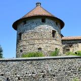 Реконструкция фантазии средневекового дворца в деревне Racos, Трансильвании Стоковое Изображение RF