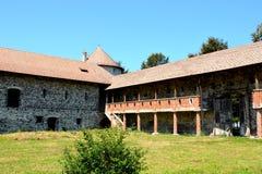 Реконструкция фантазии средневекового дворца в деревне Racos, Трансильвании Стоковые Изображения