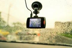 Рекордер автомобиля камеры фронта автомобиля DVR стоковое фото rf
