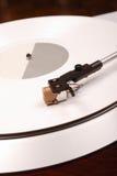 рекордная белизна turntable Стоковая Фотография RF