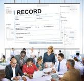 Рекордная концепция правового документа контракта согласования Стоковые Изображения RF