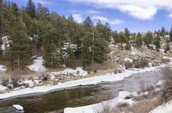Рекреационная зона каньона Elevenmile в предыдущей весне Стоковое фото RF