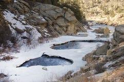 Рекреационная зона каньона Elevenmile в предыдущей весне Стоковые Фото