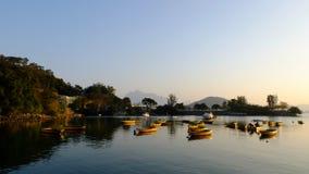 Рекреационные шлюпки на озере Стоковое фото RF