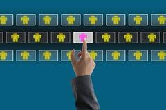 рекрутство бизнес-процесса Стоковое Изображение