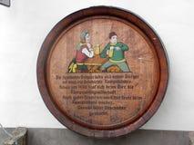 Реклама бочонка пива Стоковое фото RF