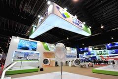 Реклама Воздушных судн Корпорации будочки Китая (COMAC) showcasing двойной двигатель ARJ21 на Сингапуре Airshow Стоковое фото RF
