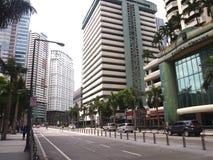 Реклама и жилые дома на комплексе Ortigas Стоковое Фото
