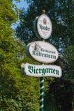 Реклама подписывает внутри район Эссена Kettwig на Kattenturm Стоковое Изображение RF