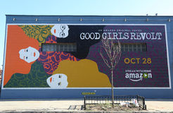 Реклама протеста девушек первоначально серии Амазонки хорошая в Бруклине Стоковые Изображения