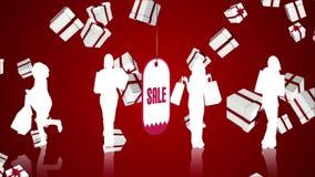 Реклама продажи с идти дождь подарки рождества иллюстрация штока