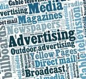 Реклама Стоковая Фотография RF