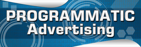Реклама Programmtic Стоковая Фотография