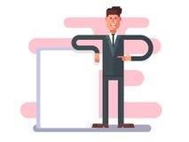 рекламировать бизнесмена бесплатная иллюстрация