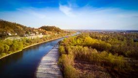 Рек-Sava-Загреб-Хорватия Стоковая Фотография