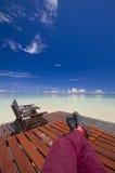 релаксация острова совершенная тропическая Стоковая Фотография RF