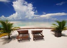 релаксация острова совершенная тропическая Стоковые Фото