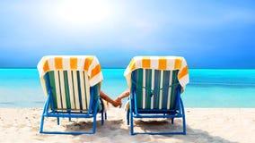 релаксация пляжа Стоковое Изображение