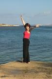 релаксация пляжа Стоковое Изображение RF