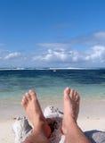 релаксация пляжа Стоковая Фотография