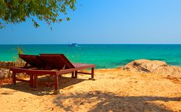 релаксация пляжа Стоковые Фотографии RF