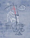 Религиозная иллюстрация фразы и символов стоковые фото